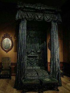 gothic interior bedroom
