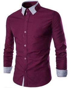 Hot Sale Special Shirt Collar Stripes Spliced Long Sleeves Slimming Shirt For Men Trendy Clothes For Teen Boys, Outfits For Teens, Indian Men Fashion, Mens Fashion Wear, African Clothing For Men, Mens Clothing Styles, Formal Shirts, Casual Shirts, Corporate Shirts