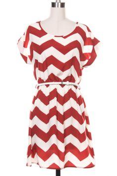 Chevron Dress - Long Sleeved / Multiple Zigzags