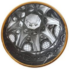 "Vintage Plate from the Series of Church Domes ""Cupole d'Italia"""