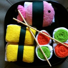 Baby shower gift- onsie sushi-