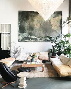 Nicest Interiors: U201ccozy Living Room Idea With Statement Art, Large Pendant  Lighting And Mid Century Modern Furniture U201d