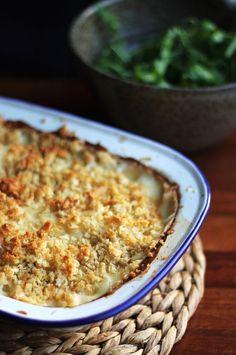 Truffly cauliflower mac and cheese!