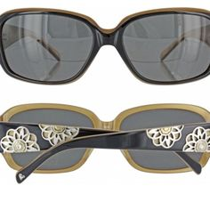 Brighton Valencia Sunglasses Love the two toned color, and the flower detail on sides. No trades. Please be respectful, no lowball offers. Brighton Accessories Sunglasses