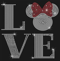 Love Minnie Mouse Inspired Rhinestone by MyCreativeOutletTime, $9.95