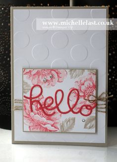 Stippled Blossom from Stampin' Up! - Stampin' Up! Demonstrator Michelle Last by lorie Scrapbook Paper Crafts, Scrapbook Cards, Scrapbooking, Making Greeting Cards, Cute Cards, Diy Cards, Cards For Friends, Handmade Birthday Cards, Card Making Inspiration