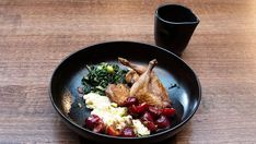 Quail, Smoked Ricotta and Silverbeet Quail Recipes, Network Ten, Masterchef Recipes, Cherry Sauce, Stuffed Shells, Salted Butter, Tray Bakes, Ricotta, Stuffed Peppers