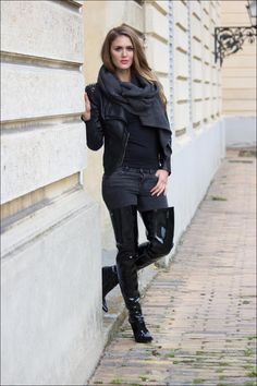 Black Patent Leather Boots