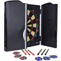 Sportcraft 2000 Electronic Dartboard and Cabinet Gaming Set