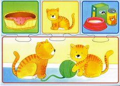 APOYO ESCOLAR ING MASCHWITZ: PUZZLES (TEMÁTICA ANIMALES Y PARTES DE LA CASA)