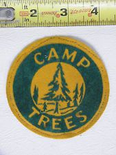 "Vintage BSA Boy Scout 3.5"" 1940's Camp Trees Patch"