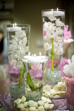 candy tables for wedding | More photos of the candy buffet and flowers on the buffet table.