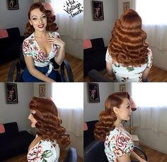 Retro Hairstyles 21 Pin Up Hairstyles That Are Hot Right Now - Retro Hairstyles, Wedding Hairstyles, Pin Up Hairstyles, 1940s Hairstyles For Long Hair, Vintage Hairstyles Tutorial, Hairstyles Videos, Formal Hairstyles, Weave Hairstyles, Straight Hairstyles