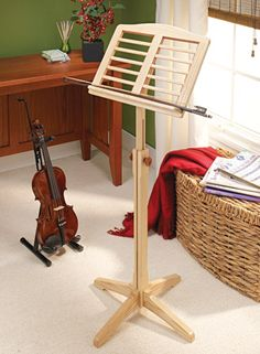 Custom Music Stand | Woodsmith Plans