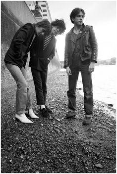 Robert Smith, Michael Dempsey, & Lol Tolhurst  - The Cure c.1977
