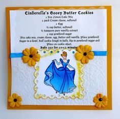 Cinderella Recipe Card by specialcraftmom - Cards and Paper Crafts at Splitcoaststampers