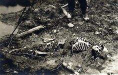 One of the 1.7 million Germans killed in the trenches of the Great War, ca. 1917.