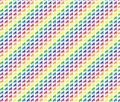Unicorn Rainbow fabric by olivechaos on Spoonflower - custom fabric