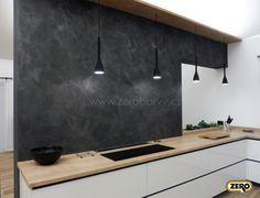 Designová vysoce odolná dekorační stěrka ZERO MagicTouch v odstínu M790. Provedení za kuchyňskou linkou usnadňuje díky perfektní čistitelnosti a odolnosti celkovou údržbu. Paint Colors, Conference Room, Table, Furniture, Design, Home Decor, Painting, Colors, Paint Colours