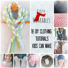 Cozy Wearables: 18 DIY Clothes Ideas and How to Make a Scarf from @AllFreeKidsCrafts