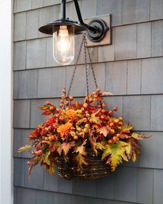 Celebrate the season's bounty with vivid colors and timeless elegance. Shop Balsam Hill's collection of fall outdoor wreaths, garlands, and arrangements today. Fall Planters, Hanging Planters, Fall Hanging Baskets, Balsam Hill, Outdoor Wreaths, Fall Arrangements, Harvest Decorations, Fall Home Decor, Fall Flowers