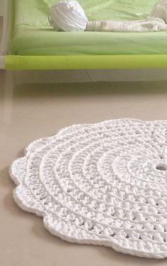 alfombra tapete alfombra de algodón crochet por martamartim