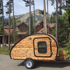 My two homes while in Big Sky Montana.  This teardrop camper LOVES Montana!