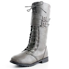 West Blvd Womens MANILA COMBAT Boots Lace Up Military Army Motorcycle Biker Flat Mid Calf Shoes, Grey Pu, US 5.5 West Blvd http://www.amazon.com/dp/B00FHBNK5Y/ref=cm_sw_r_pi_dp_5WjMtb01ZZRBY438