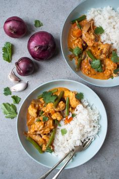 Makkelijke vegetarische curry - Zonderzooi - Food, Coaching & Lifestyle - Pratik Hızlı ve Kolay Yemek Tarifleri Veggie Recipes, Vegetarian Recipes, Healthy Recipes, Soup Recipes, Korma, Vegan Diner, Easy Vegetarian Curry, A Food, Good Food