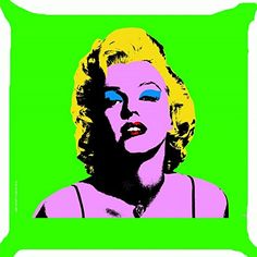 Cushion cover throw pillow case 18 inch retro vintage pop art Marilyn Monroe makeup face cute girl both sides image zipper Pop Art Marilyn Monroe, Marilyn Monroe Makeup, Vintage Pop Art, Retro Vintage, Hollywood Girls, Hollywood Star, Pop Art Girl, Throw Pillow Cases, Cute Girls