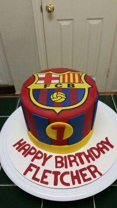 TORTA BARCELONA # 3 Messi Birthday, Soccer Birthday Cakes, Football Birthday, Soccer Cakes, Bolo Do Barcelona, Barcelona Party, Barcelona Soccer, Cupcakes, Cake Designs