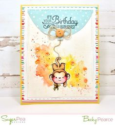 Becky Pearce for SugarPea Designs Woodland Critters, Woodland Creatures, It's Your Birthday, Birthday Cards, Kids Cards, Craft Cards, Little Critter, Petunias, Clear Stamps
