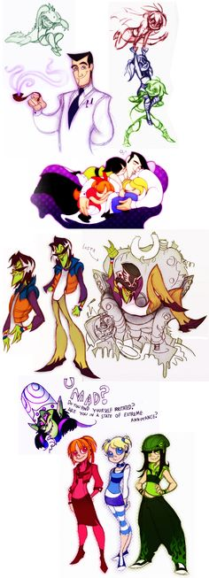 Powerpuff Girls Doodledump-2 by *Busterella on deviantART I posted this primarily for Prof. Utonium. Love it!