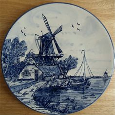Delft Blue Collectors Plate Hand Painted Made In Holland