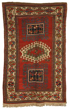 A Kazak rug, Southwest Caucasus -    approximately 6ft. 9in. by 4ft. 6in. (2.06 by 1.37m.) circa 1880