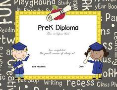pre kindergarten graduation diplomas blank graduation diploma pre