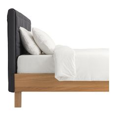 oppland bed frame oak veneer gray - Duken Bed Frame