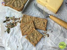 Crackers integrali ai semi misti - ricetta senza lievito