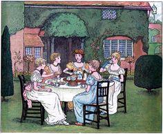 Vintage Garden Tea Party Image