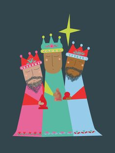 Three kings scrapbook page idea