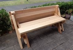folding picnic table folded back to bench seat