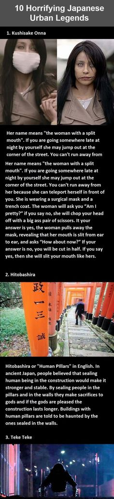 Horrifying Japanese Urban Legends ... Not sure if I'll be visiting Japan EVER!