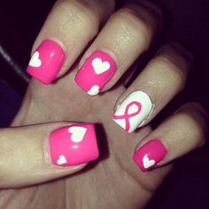 Breast cancer awareness nails  #BeautyforBreastCancer #FragranceNet