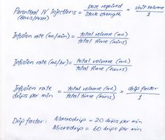 med calculations IV therapy- must remember these for orientation exam ...