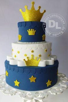 bolo cenográfico pequeno príncipe azul marinho