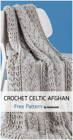 Newest Absolutely Free Crochet Blanket afghan Tips Crochet Celtic Afghan Baby Blanket – Free Patterns Crochet Afghans, Motifs Afghans, Crochet Cable, Manta Crochet, Afghan Crochet Patterns, Knit Or Crochet, Baby Blanket Crochet, Afghan Blanket, Crochet Blankets