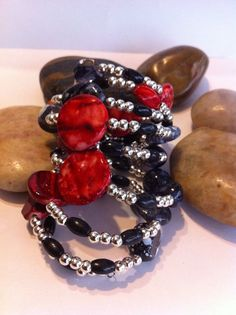 Beaded Wrap Bracelet Free Shipping by UniqueDesignsbyZee on Etsy, $30.00