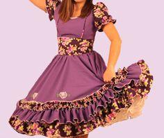 Huasa chilena, Vestidos de china! Beautiful Dresses, Summer Dresses, Disney Princess, Folklore, Boutiques, Fashion, Briefs, Traditional Dresses, Cute Dresses