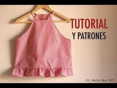 Aprender a coser: Blusa cogida al cuello mujer (patrones gratis) Learn to sew: Women's neck wrap blo Diy Clothing, Sewing Clothes, Fashion Sewing, Diy Fashion, Diy Clothes Videos, Diy Tops, Creation Couture, Make Your Own Clothes, Dress Sewing Patterns