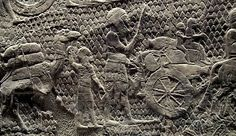 Image 3. The Lachish Relief depicts the Assyrian army laying siege in 701 BCE to the ancient town of Lachish, in Judah, between Mount Hebron and the Mediterranean coast. The well-preserved series of gypsum wall panel reliefs decorated the Assyrian king Sennacherib's great palace at Nineveh.